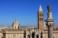 Basilica di Santa Maria Maggiore in Rome, Italy. The Basilica di Santa Maria Maggiore, is a Papal major basilica and the largest Catholic Marian church in Rome royalty free stock image