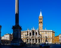 Basilica di Santa Maria Maggiore in Rome, Italy. Basilica di Santa Maria Maggiore is Papal major basilica and largest Catholic Marian church in Rome, Italy Stock Photography