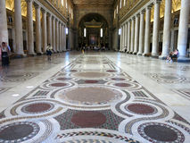 Floor Basilica di Santa Maria Maggiore, Rome Royalty Free Stock Photo