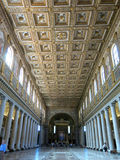 Ceiling Basilica di Santa Maria Maggiore, Rome Stock Photo