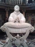 Basilica di Santa Maria Maggiore, stone carving, sculpture, carving, statue stock photo