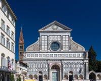 Basilica di Santa Maria Novella e del campanile, Firenze, Italia Immagini Stock Libere da Diritti