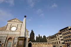Santa Maria Novella Church in Florence. stock photo