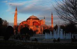 Basilica di Santa Sofia nel tramonto immagini stock