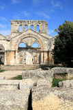 Basilica di Simeon del san, Qala'at Samaan, Siria Immagini Stock