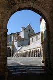 Basilica di St Francis in Assisi Fotografie Stock