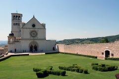 Basilica di St Francis in Assisi Immagine Stock Libera da Diritti