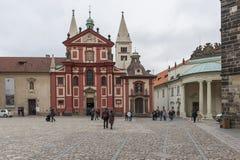 Basilica di St George, repubblica Ceca Immagine Stock Libera da Diritti
