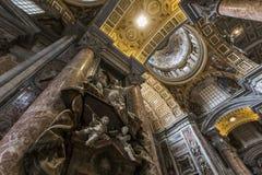 Basilica di St Peter, Città del Vaticano, Vaticano Immagine Stock Libera da Diritti
