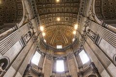 Basilica di St Peter, Città del Vaticano, Vaticano Fotografia Stock Libera da Diritti
