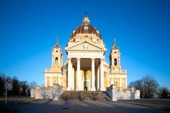 Basilica di Superga都灵,意大利 库存图片