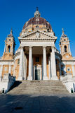 Basilica di Superga frontal view, Turin. Italy Stock Photo