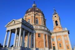 Basilica di Superga in Turin. Baroque church of Basilica di Superga in Turin, Italy Royalty Free Stock Photos