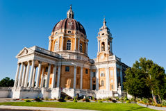 Basilica di Superga, Turin, Italy. Basilica di Superga in a sunny day, Turin, Italy Royalty Free Stock Photo