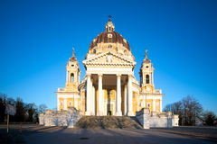 Basilica di Superga Turin, Italy. Basilica di Superga, a baroque church on Turin, Italy Stock Image