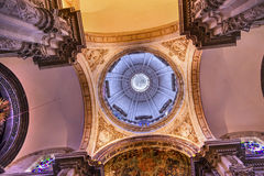 Basilica Dome Church El Salvador Seville Andalusia Spain Royalty Free Stock Image