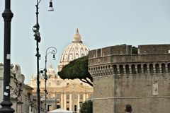 Basilica and dome of St. Peter stock images