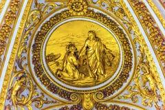 Basilica dorata Vaticano Roma Italia del ` s di Cristo Peter Saint Peter Fotografia Stock Libera da Diritti