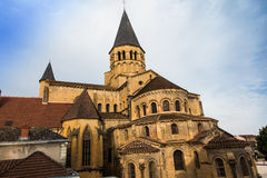 The basilica du Sacre Coeur in Paray-le-Monial Royalty Free Stock Images