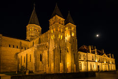 The basilica du Sacre Coeur in Paray-le-Monial in night Stock Image