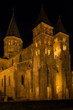 The basilica du Sacre Coeur in Paray-le-Monial in night Royalty Free Stock Photos