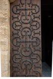 The basilica du Sacre Coeur in Paray-le-Monial. Side door Stock Photos