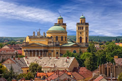 Basilica in Eger stock photo