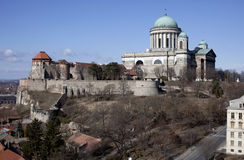 Basilica of Esztergom. And the Castle Hill Royalty Free Stock Photos