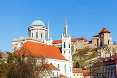 The Basilica in Esztergom. Beautiful view of the Basilica in Esztergom, Hungary Stock Photos