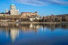 Basilica of Esztergom city Stock Image