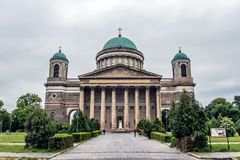 The Basilica of Esztergom, Hungary. Stock Images