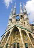 Basilica and Expiatory Church of the Holy Family. (Basilica y Templo Expiatorio de la Sagrada Familia). Barcelona, Spain royalty free stock photos