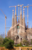 Basilica and Expiatory Church of the Holy Family. View of Barcelona, Spain.  Basilica and Expiatory Church of the Holy Family (Sagrada Familia) by Catalan Stock Images