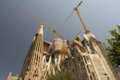 Basilica and Expiatory Church of the Holy Family Barcelona. The Basílica i Temple Expiatori de la Sagrada Família Catalan pronunciation: [səˈɣɾaðə fəˈ Stock Photo