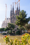 Basilica and Expiatory Church of the Holy Family (Sagrada Famil. Ia) in Barcelona, Spain Royalty Free Stock Image