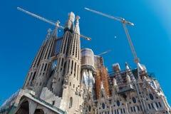 Basilica and Expiatory Church of the Holy Family (Sagrada Familia). Barcelona, Spain royalty free stock photos