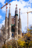 Basilica and Expiatory Church of the Holy Family. View of Barcelona, Spain.  Basilica and Expiatory Church of the Holy Family (Sagrada Familia Stock Photography