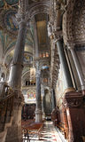 Basilica Fourviere inside, Lyon Royalty Free Stock Photography