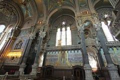 Basilica Fourviere inside, Lyon Royalty Free Stock Photos