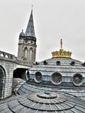 basilica france lourdes Arkivfoto