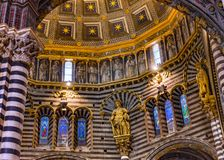 Basilica Golden Dome Cathedral Church Siena Italy. royalty free stock image