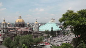 Basilica of Guadalupe Virgin, Mexico City stock footage