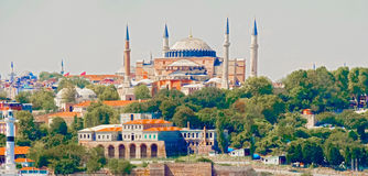 Basilica Hagia Sophia in Istanbul Royalty Free Stock Images