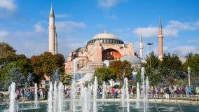 Basilica Hagia Sophia and Sultanahmet square Stock Photos
