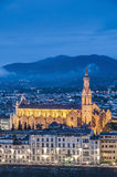 The Basilica of the Holy Cross in Florence, Italy Stock Images