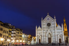 Basilica of the Holy Cross in Florence in Italy Royalty Free Stock Images