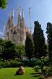Basilica of the Holy Family in Barcelona. By Gaudi Stock Image