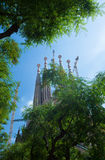 Basilica of the Holy Family in Barcelona Royalty Free Stock Photography