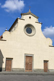 Basilica of the Holy Spirit facade in Florence Royalty Free Stock Photos