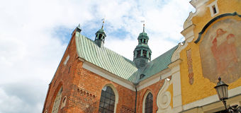Basilica of The Holy Trinity in Gdansk Oliwa. This Oliwa Archcathedral it the longest Cistercian church in the world and holds great value artistic works Stock Photo